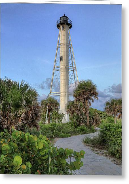 Greeting Card featuring the photograph Gasparilla Island Lighthouse 2 by Donna Kennedy
