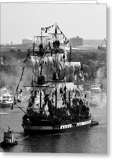 Gasparilla Ship 2013 Greeting Card by David Lee Thompson