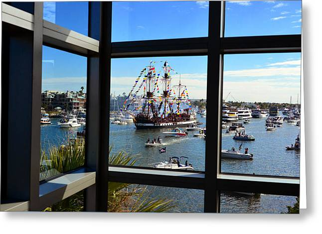Gasparilla Through The Looking Glass Greeting Card by David Lee Thompson