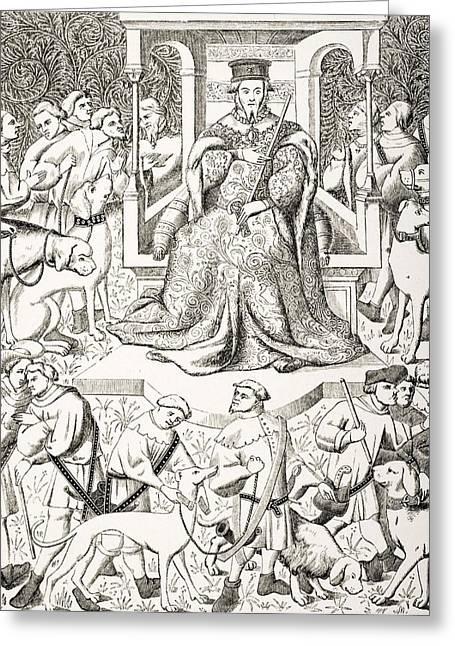Gaston Phoebus 1331 To 1391 Teaching Greeting Card