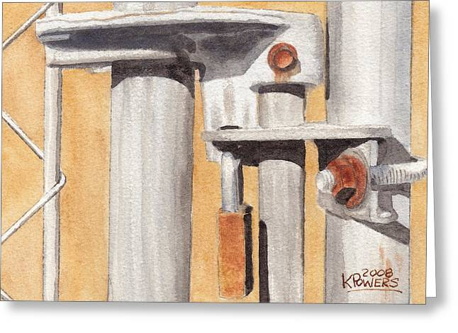 Gate Lock Greeting Card by Ken Powers