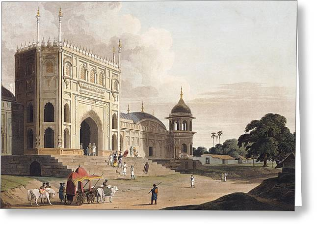 Gate Of A Mosque Built By Hafiz Ramut Greeting Card by Thomas and William Daniell