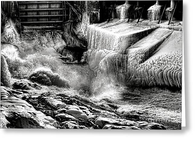 Gate Of Frozen Hell Greeting Card by Olivier Le Queinec