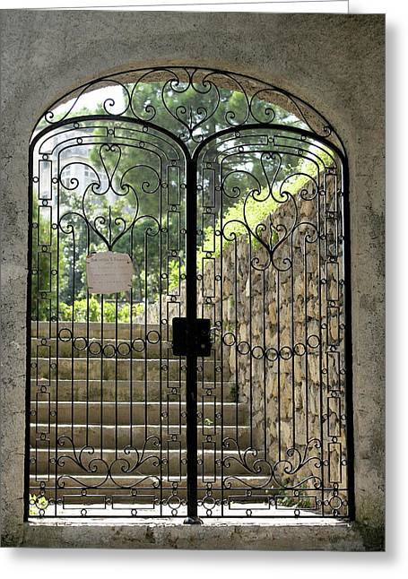 Gate To Biblioteca S Francesco Greeting Card