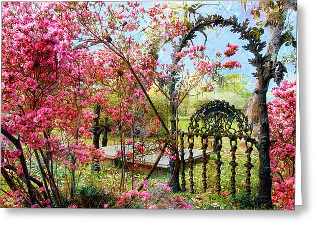 Gate To Eternity Greeting Card by Bonnie Barry