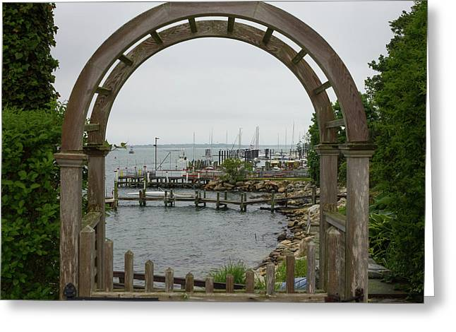 Gate To Noank Harbor Greeting Card