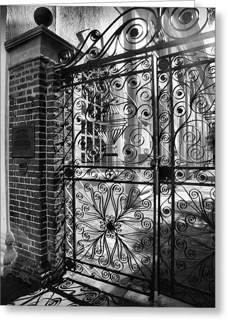 Gate To St. Michaels Greeting Card by Steven Ainsworth