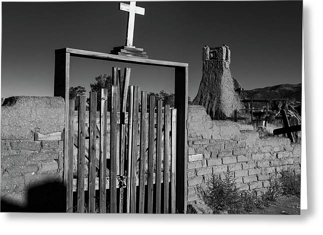 Gate With Cross Greeting Card