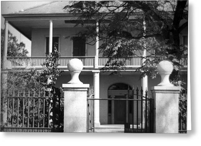 Gated Colonial Home Greeting Card
