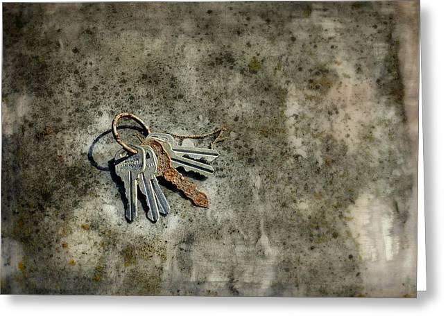 Gatehouse Keys Greeting Card by Brenda Conrad