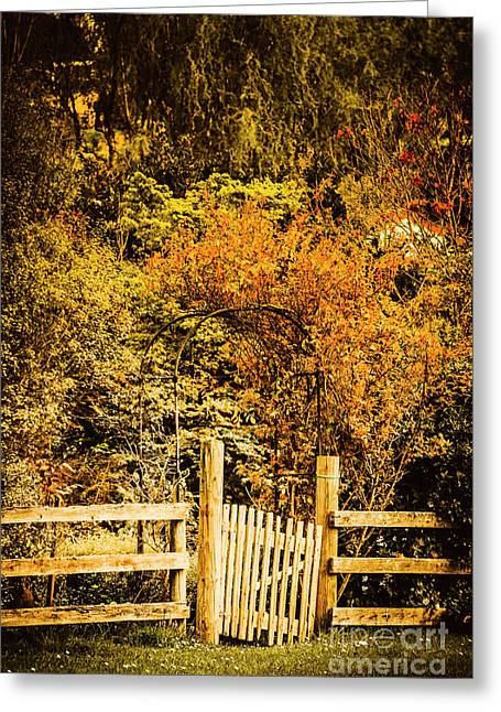 Gates In Fall Greeting Card