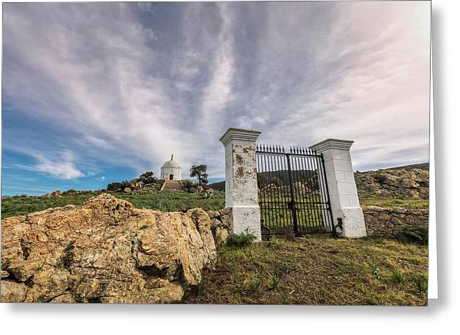 Gates Leading To Mausoleum At Palasca In Balagne Region Of Corsi Greeting Card