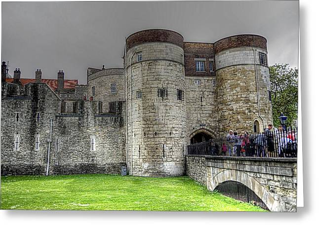 Gates To The Tower Of London Greeting Card by Karen McKenzie McAdoo