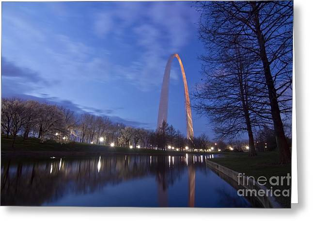 Gateway Arch At Dawn Greeting Card by Sven Brogren