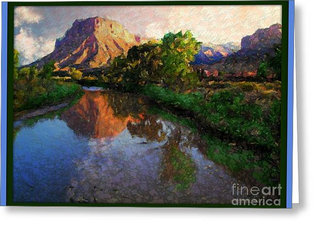 Gateway Colorado Mesa By River Greeting Card by Annie Gibbons