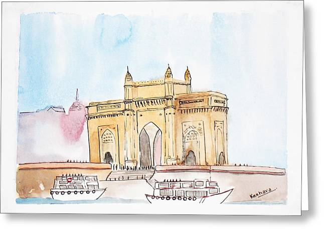 Gateway Of India Greeting Card