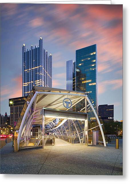 Gateway Station At Pittsburgh  Greeting Card by Emmanuel Panagiotakis