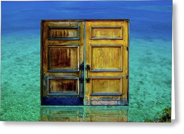 Gateway To Atlantis Greeting Card by Harry Spitz