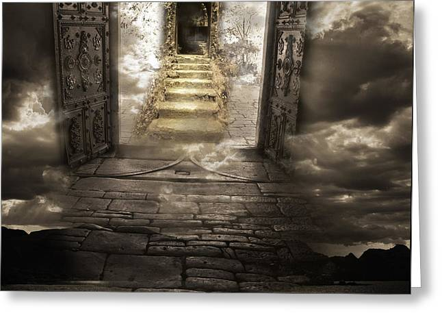 Gateway To Heaven Greeting Card by Andy Frasheski