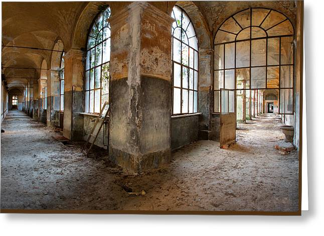 Gateway To Sanity - Abandoned Building Greeting Card by Dirk Ercken