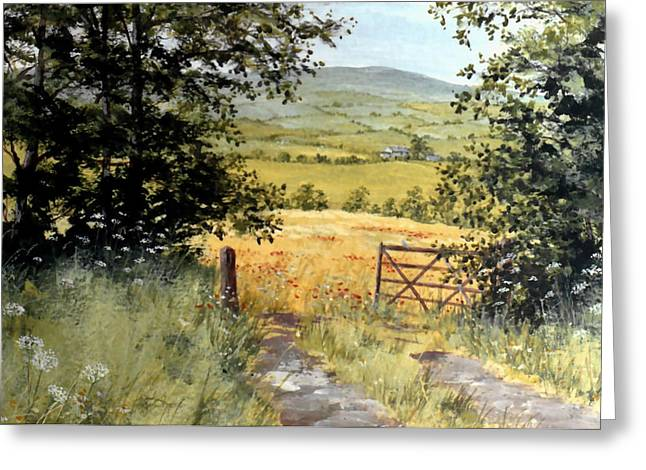 Gateway To The Vale Greeting Card by Stuart Parnell