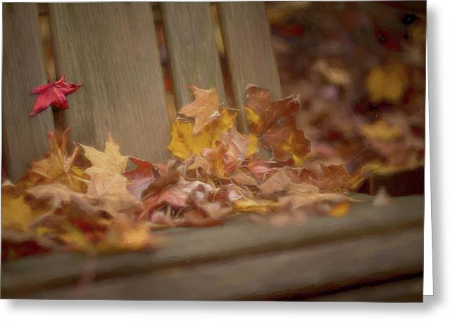 Gathered Leaves Greeting Card by Andrea Kappler