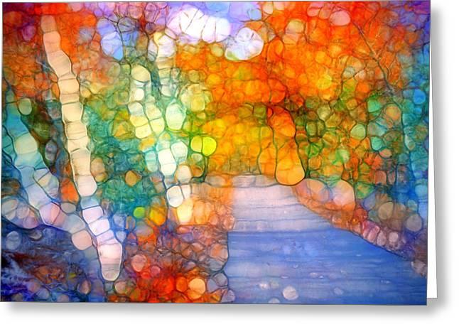 Gathering Magic Along The Path Greeting Card by Tara Turner