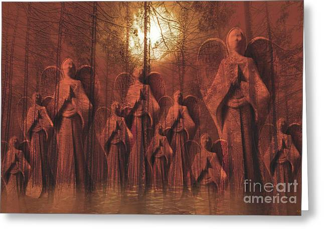Gathering Of Angels Greeting Card