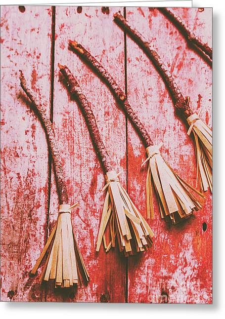 Gathering Of Evil Witches Still Life Greeting Card