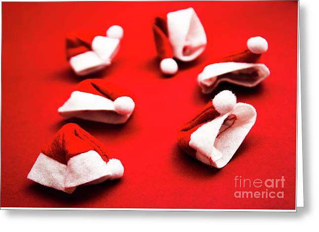 Gathering Of X-mas Hats Greeting Card by Jorgo Photography - Wall Art Gallery
