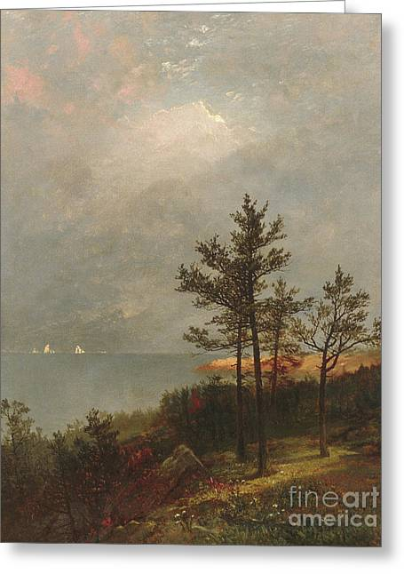 Gathering Storm On Long Island Sound, 1872 Greeting Card