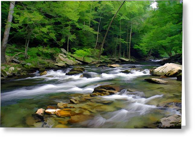 Gatlinburg Stream Greeting Card