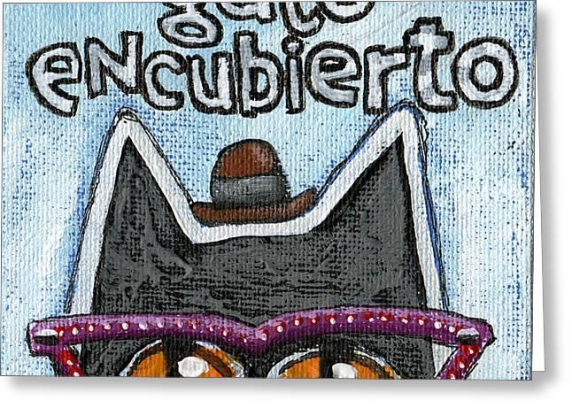 Gato Encubierto Greeting Card