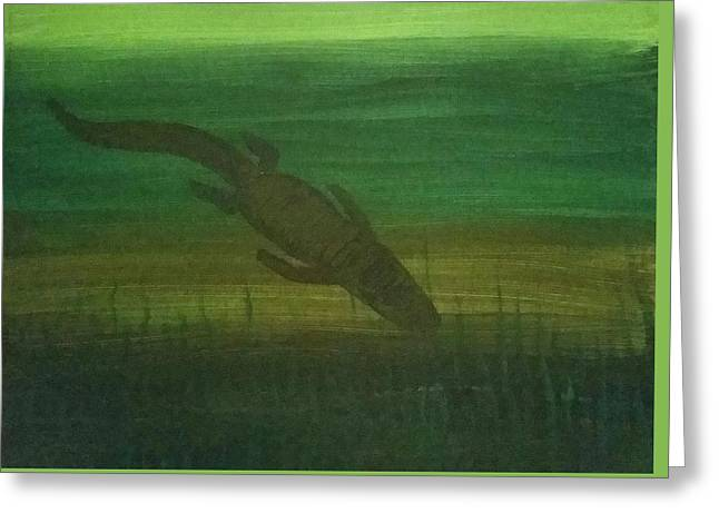 Gator Shadow  Greeting Card by Vale Anoa'i