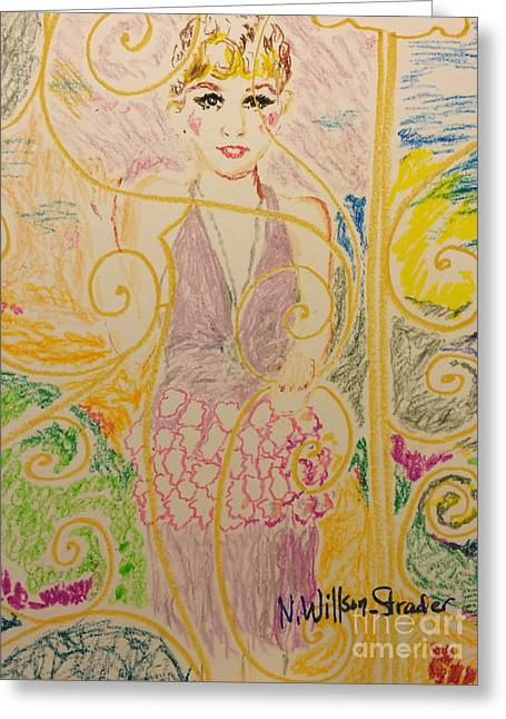 Gatsby Style Greeting Card by N Willson-Strader