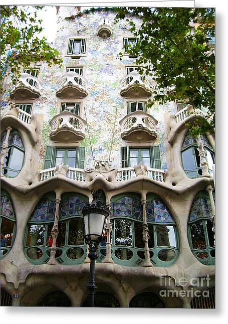 Gaudi Architecture Greeting Card by Laura Kayon