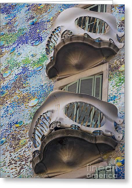 Gaudi Balcony Greeting Card by Svetlana Sewell