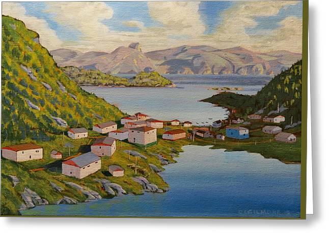 Gaultois Village Newfoundland Greeting Card