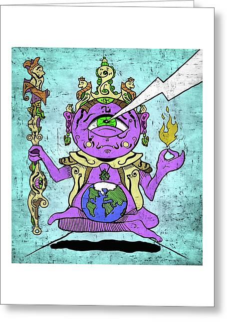 Gautama Buddha Colour Illustration Greeting Card