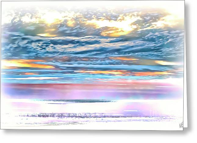 Greeting Card featuring the photograph Gauzy Sunset by Walt Foegelle