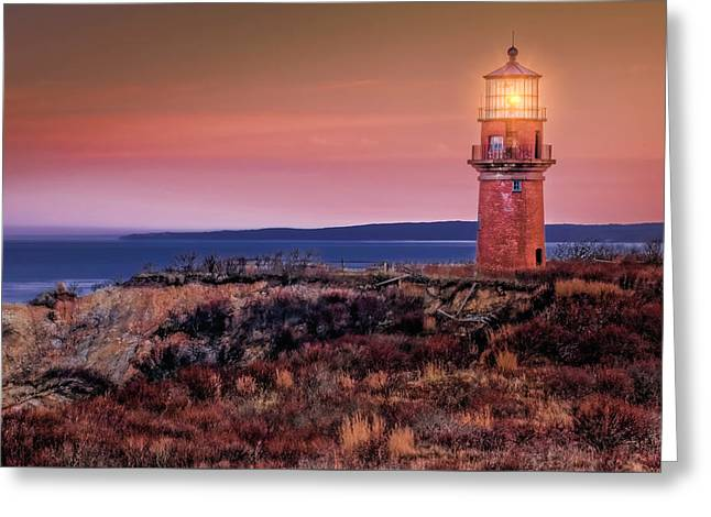 Gay Head Light At Sunrise Greeting Card