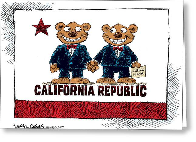 Gay Marriage In California Greeting Card