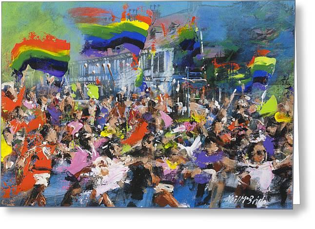 Gay Parade Greeting Card by Neil McBride