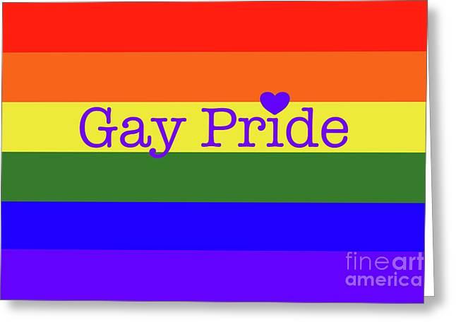 Gay Pride Love Greeting Card
