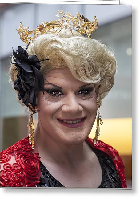 Gay Pride Parade Nyc 2015 Drag Queen Greeting Card