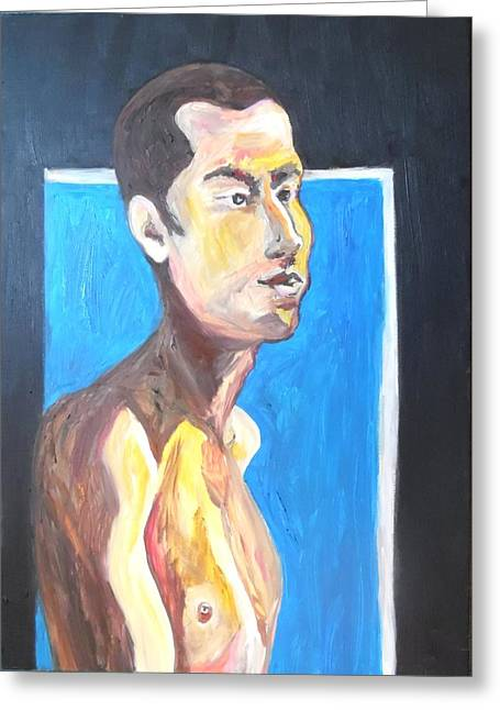 Greeting Card featuring the painting Gay Survivor by Esther Newman-Cohen