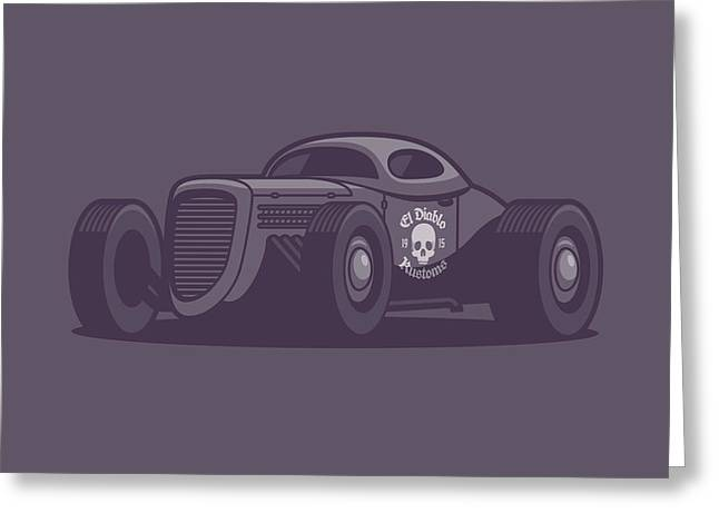 Gaz Gl1 Custom Vintage Hot Rod Classic Street Racer Car - Black Greeting Card