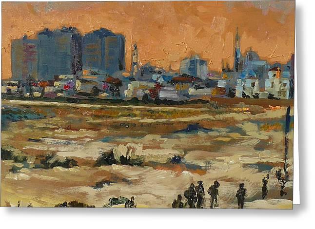 Gaza Landscape 021 Greeting Card by Gavin Sane