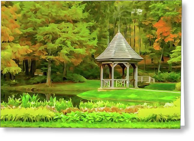 Gazebo In Autumn Greeting Card