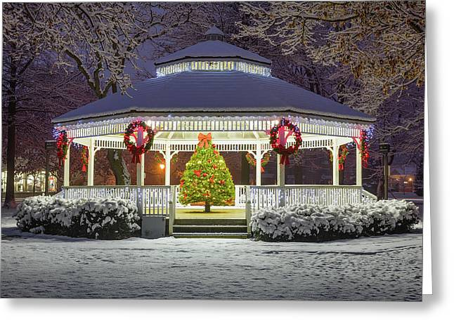 Gazebo In Beaver Pa Greeting Card by Emmanuel Panagiotakis